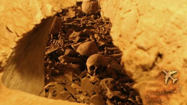 Catacombs under Basilca de San Francisco in Lima