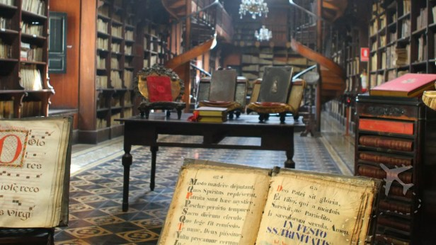 Library inside Basilica de San Francisco Lima