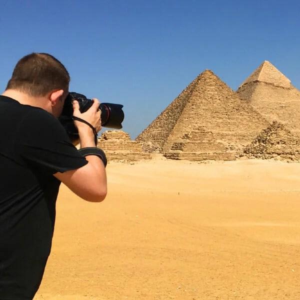 Sean Brown in Cairo, Egypt