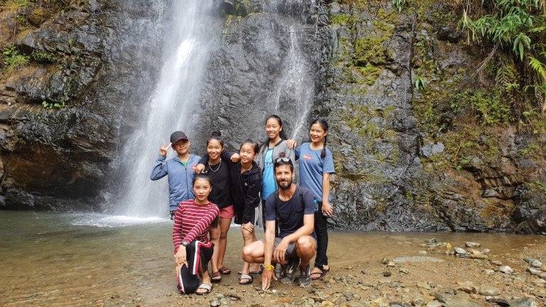 nos amies du jour à la cascade Kaeng Nyui