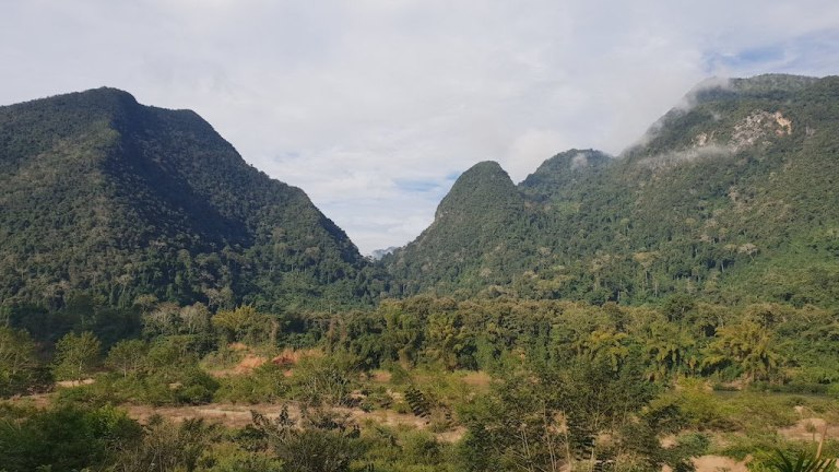 Vue depuis notre Bungalow
