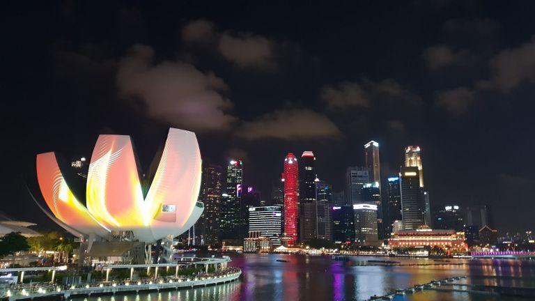Vue depuis Helix Bridge Singapour