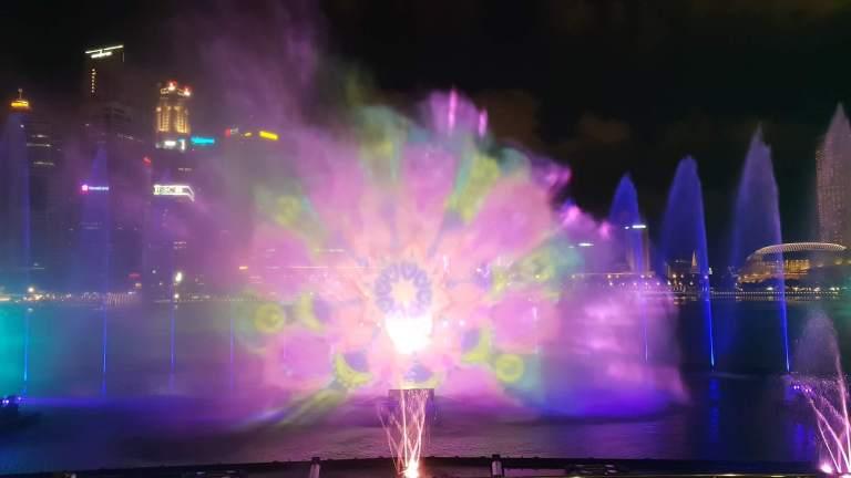 spectacle de son et lumière Marina Bay Singapour