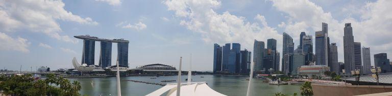 Vue sur Marina Bay depuis Esplanade theatres Singapour