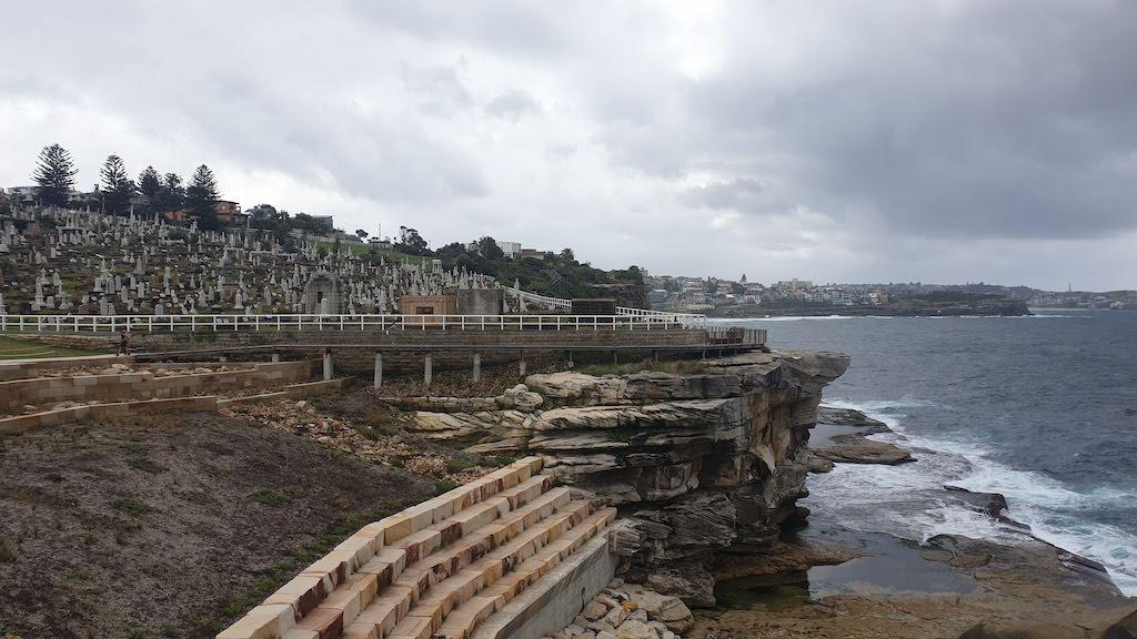 Cimetière en bord de mer Bondi Beach Sydney