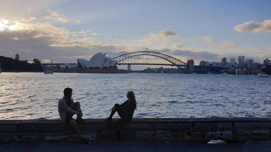Coucher de soleil au Mrs Macquarie's point Sydney