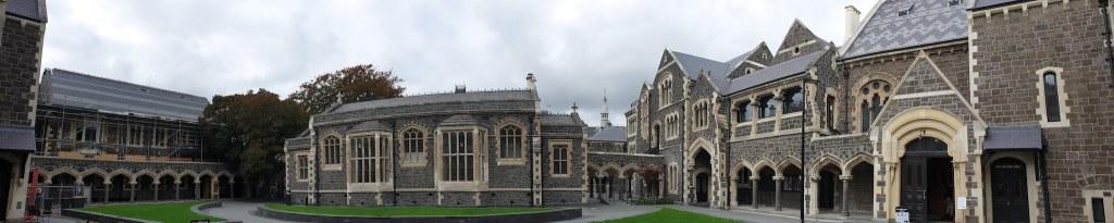 bâtiment derrière l'office de tourisme Christchurch