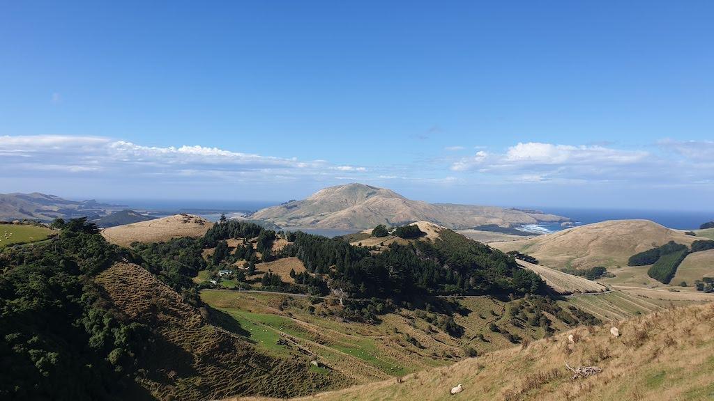 Point de vue sur la Péninsule d'Otago