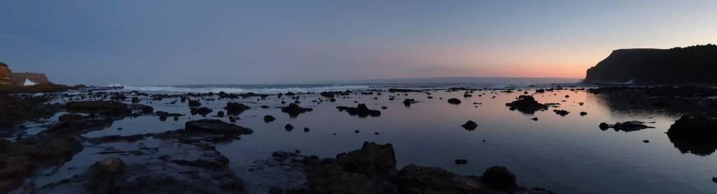 Coucher du soleil à Curio Bay Catlins