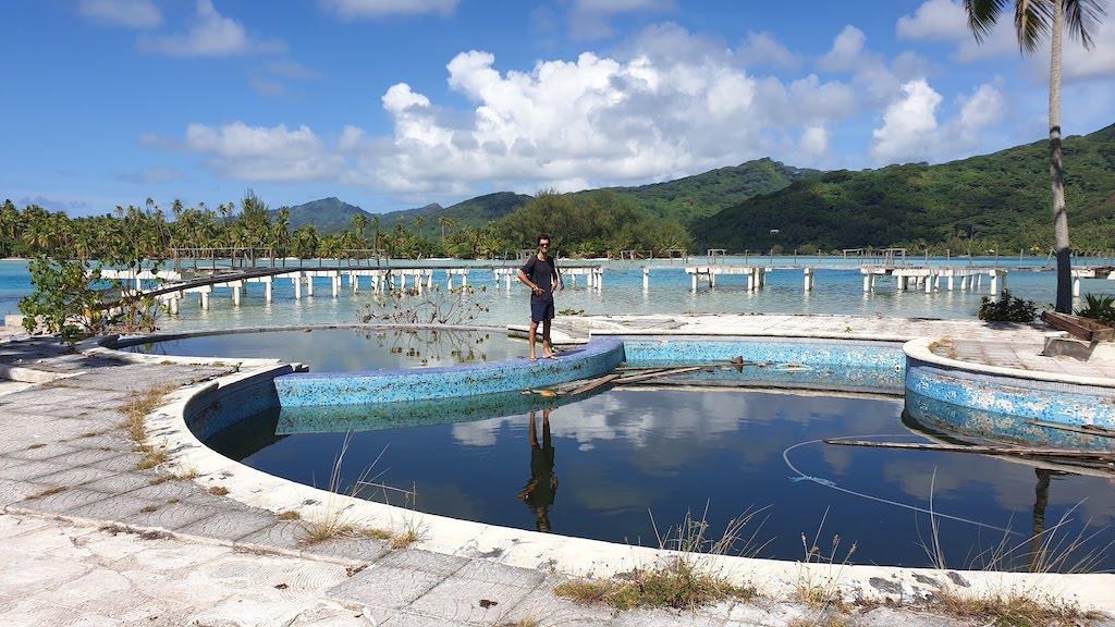 piscine de l'ancien Sofitel Huahine