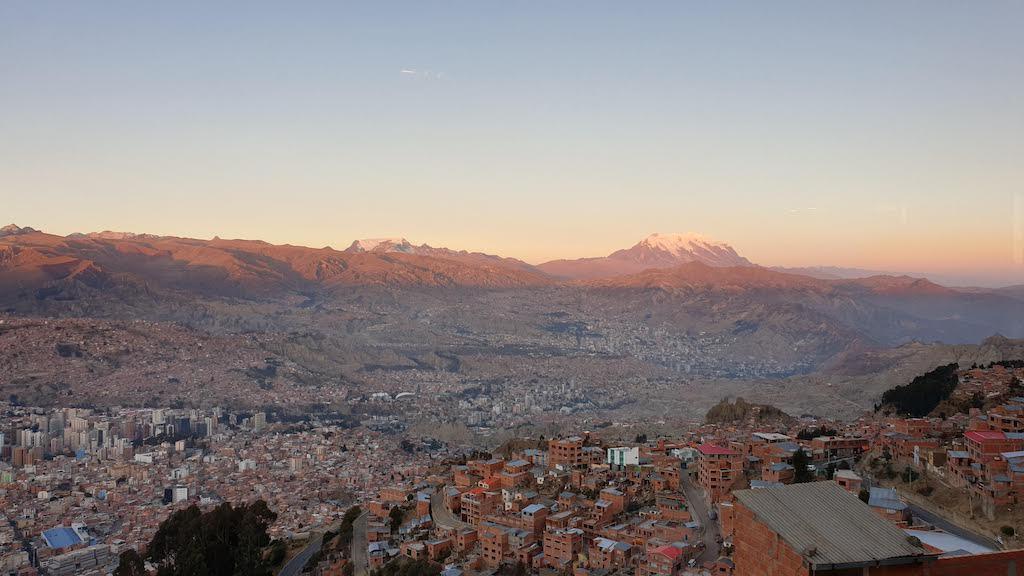 Vue sur la ville depuis le téléphérique La Paz