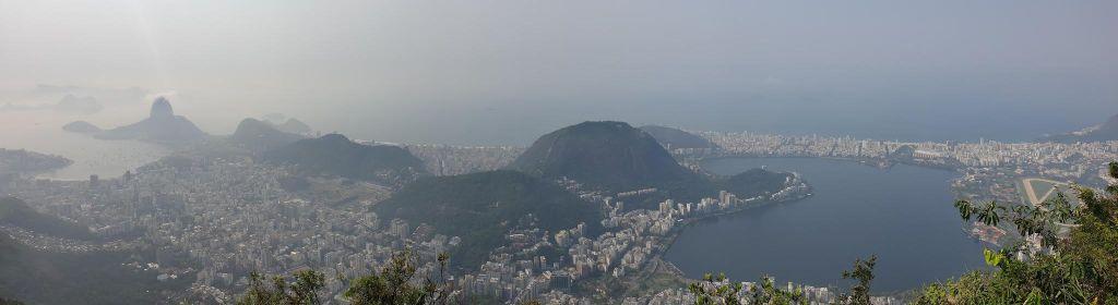vue sur la baie la plus connue du brésil