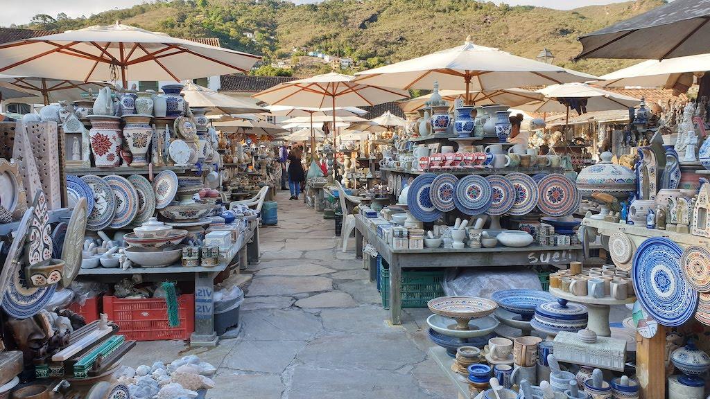 Marché d'artisanat en pierre de savon
