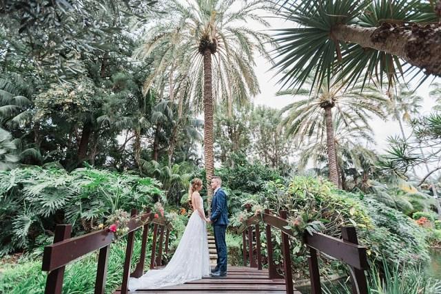 Mariage au jardin botanique