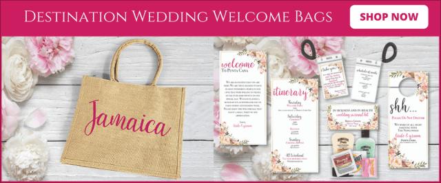 sacs de bienvenue de mariage à destination