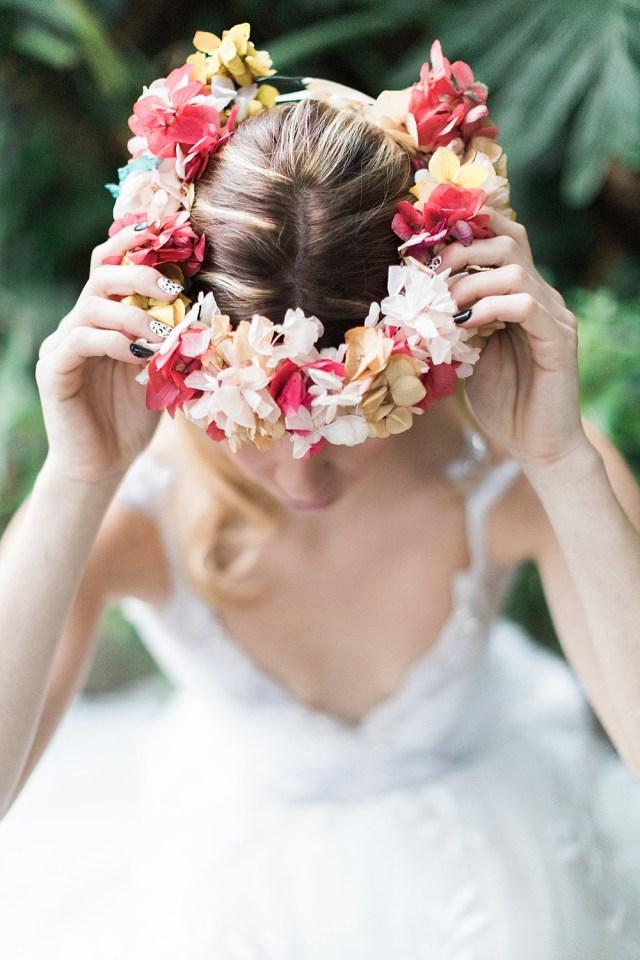 Couronne de mariage floral