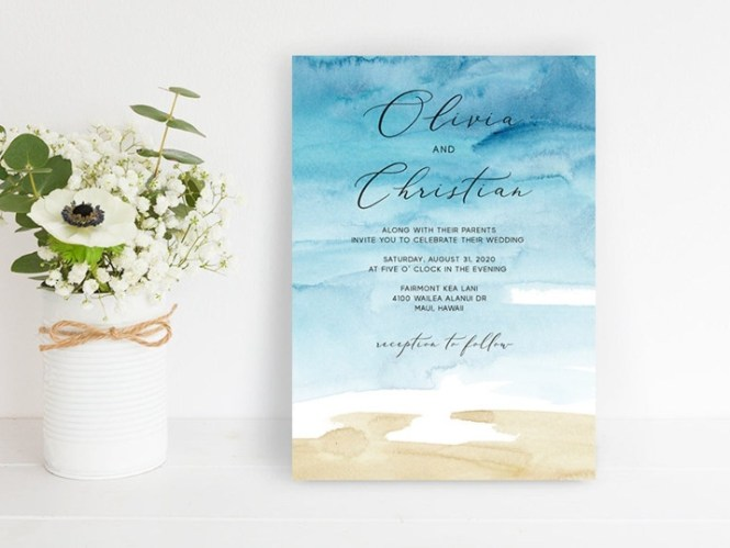 Beach Wedding Invitations Canada