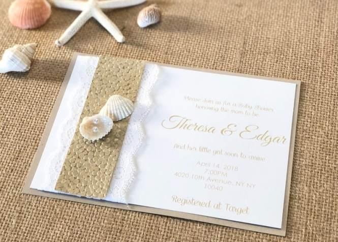 Beach Theme Wedding Invitations