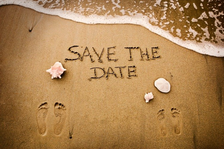 Destination wedding save the date timing