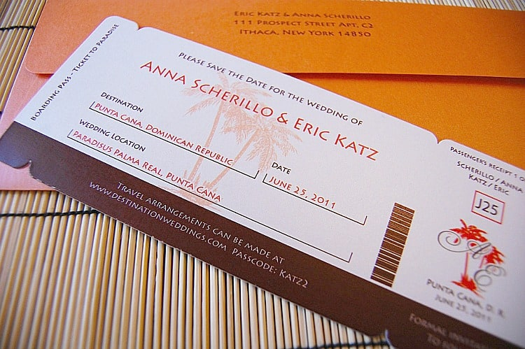 In Addition To These Geous Invitations Katie Also Created A Double Sided Save The Date Poster Sent Via Custom Mailing S