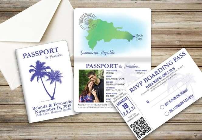 Rustic Post Destination Wedding Invitations