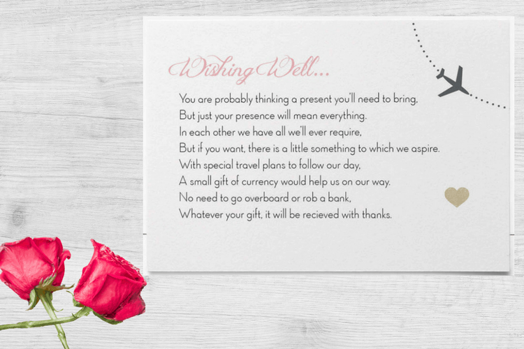 Destination Wedding Invitation Wording Exle For Gifts