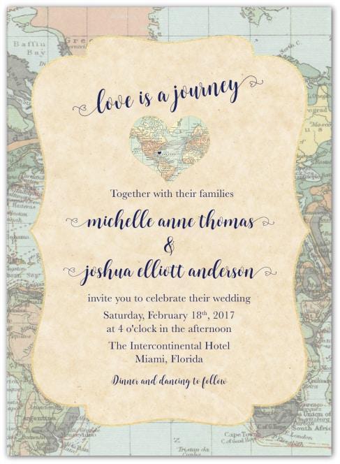 Destination Wedding Invitation Wording Exle Love Is A Journey 1