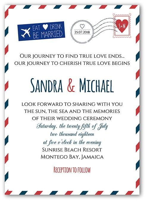 Fl Wedding Invitation Suite