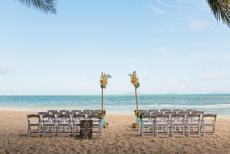 destination wedding private oahu beach 1978