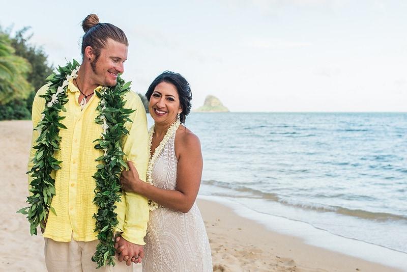 destination wedding private oahu beach 2003