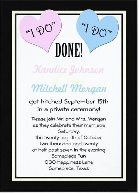 Reception Invitation Wedding Ideas