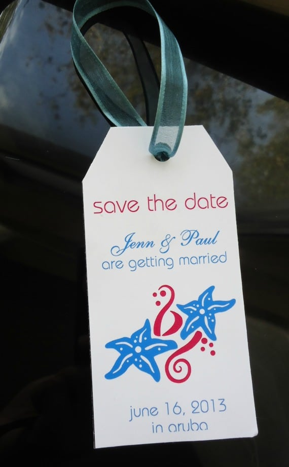 Luge Destination Wedding Save The Date