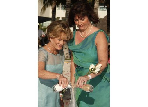 Bride and Groom's Moms Take Part in Sand Ceremony