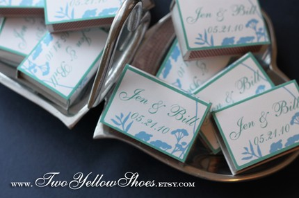 Personalized Wedding Matches to Light Sparklers