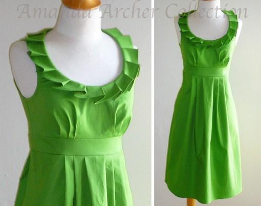 Ruffled Collar Dress,  Amanda Archer Collection