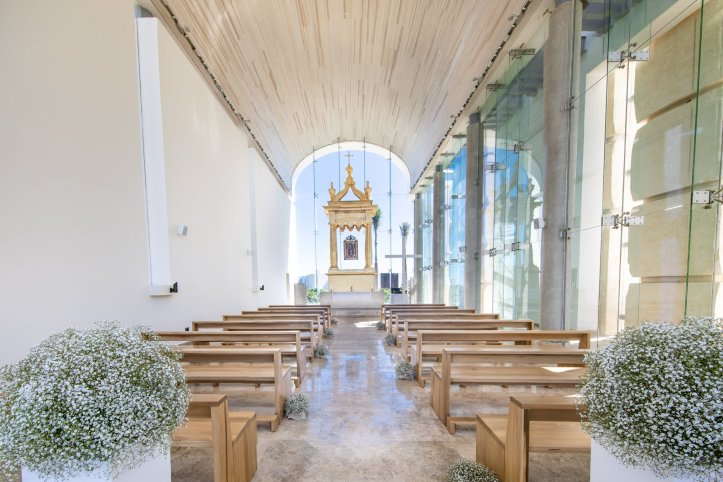 Catholic Wedding Chapel  'Nuestra Señora del Rocío' located at the Grand Palladium and TRS resorts in Costa Mujeres Mexico
