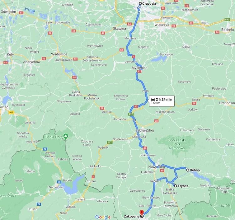 Cómo ir de Cracovia a Zakopane en coche