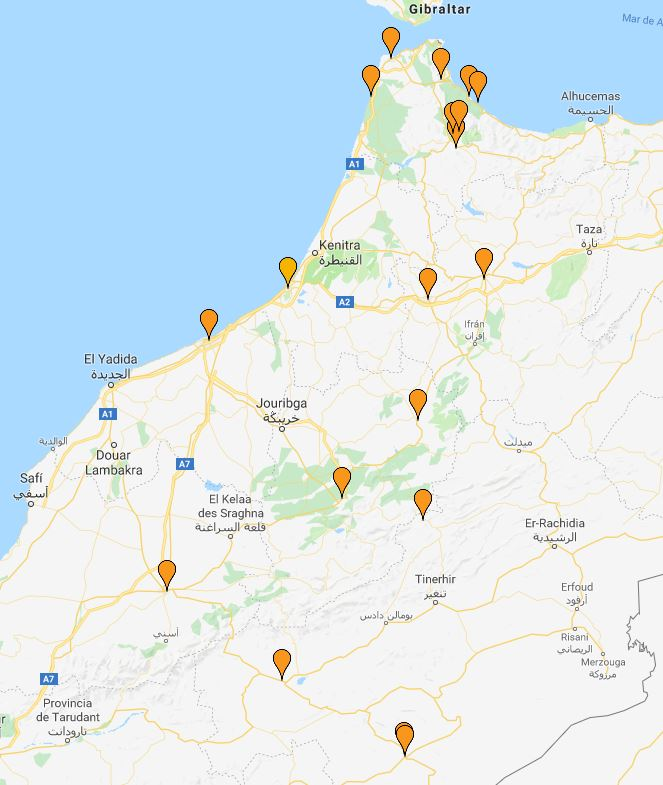 marrueco mapas google map chaouen