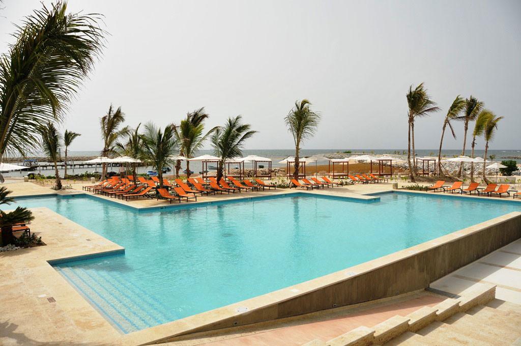 Vista de una piscina en el hotel AlSol Tiara Collection Cap Cana