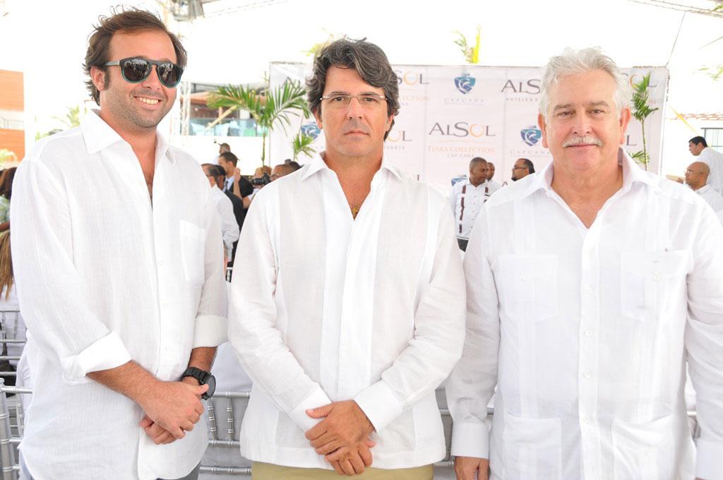 Carlos de Moya, Milton Franco y Alejandro Fondeur
