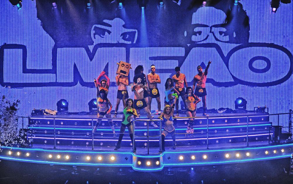 Tributo a LMFAO en el Coco Bongo Show & Disco