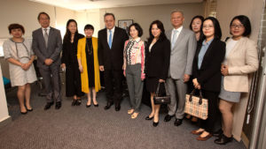 Pansy Ho, vice chairman of the Global Tourism Economy Forum, heads a Chinese visiting the National Tourism Bureau in Argentina
