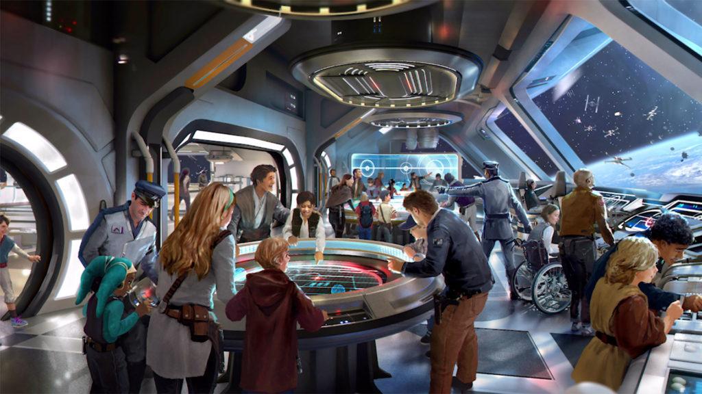 Arte conceptual del hotel Star Wars: Galactic Starcruiser (Foto: Disney/Lucasfilm)