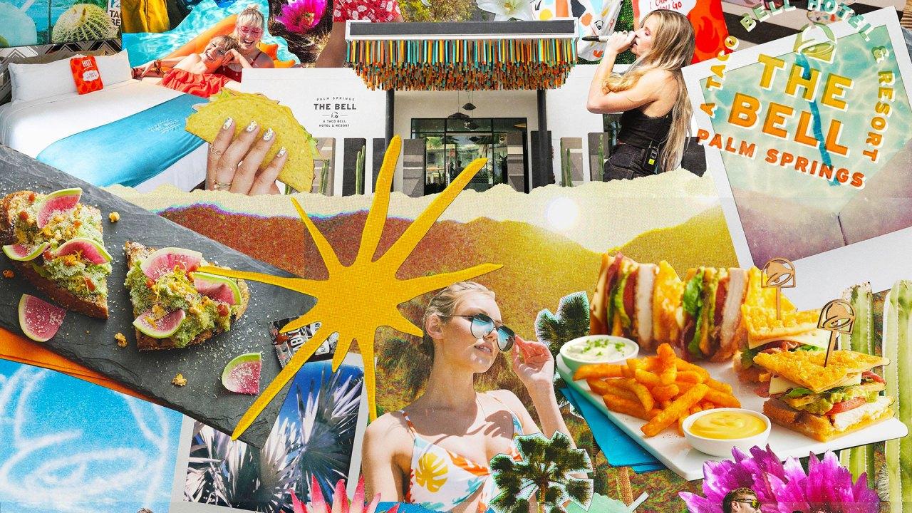 Mural decorativo en el Taco Bell Hotel de Palm Springs (Foto: Taco Bell)