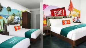 Taco Bell Hotel rooms. (Source: Taco Bell.)