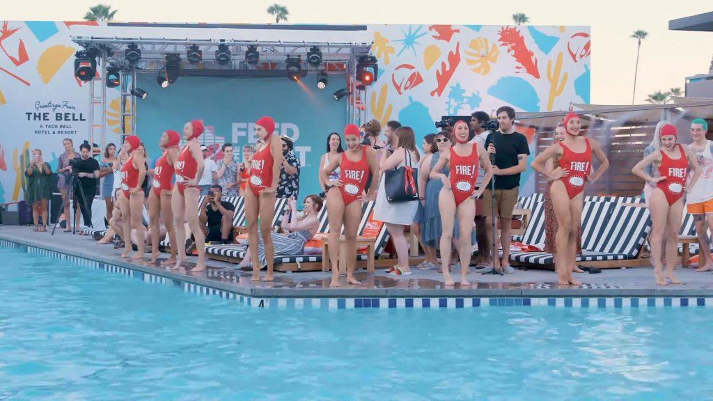 Presentación de las Aqualillies en el Taco Bell Hotel (Foto: Taco Bell)