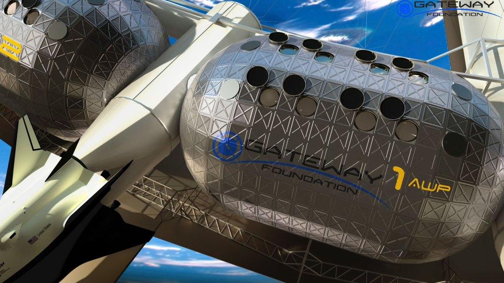Módulos del anillo habitable en el Hotel Espacial Von Braun (Foto: Fundación Gateway)
