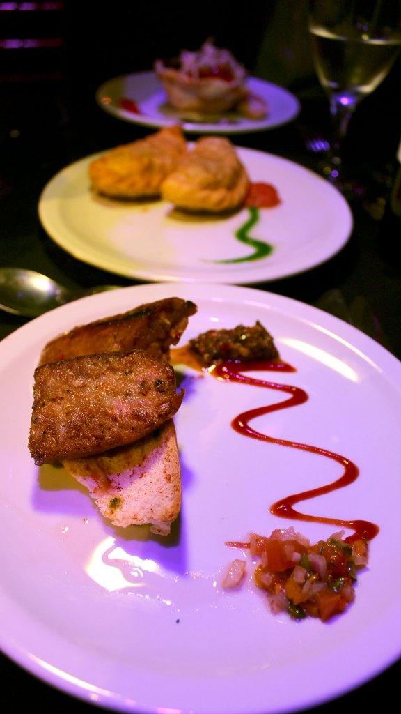 Muestra de algunas entradas de las disponibles en el menú de Madero Tango