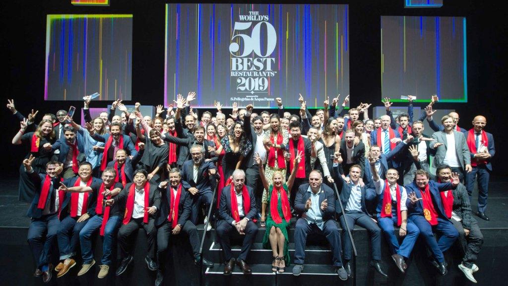 Representantes de los mejores restaurantes de Latinoamérica en la premiación Latin America's 50 Best Restaurants 2019