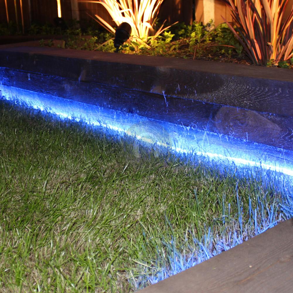 48M BLUE LED ROPE LIGHT STATIC CHASING TUBE OUTDOOR CHRISTMAS DECKING BAR LIGHTS EBay